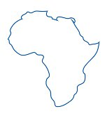 blue abstract map of Africa