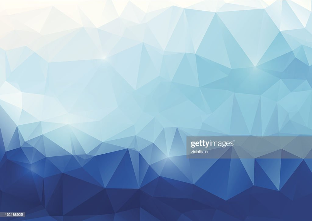 Blue abstract polygonal background