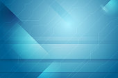 Blue abstract tech minimal background
