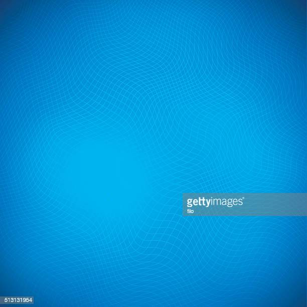 Blue Abstract Waves Background