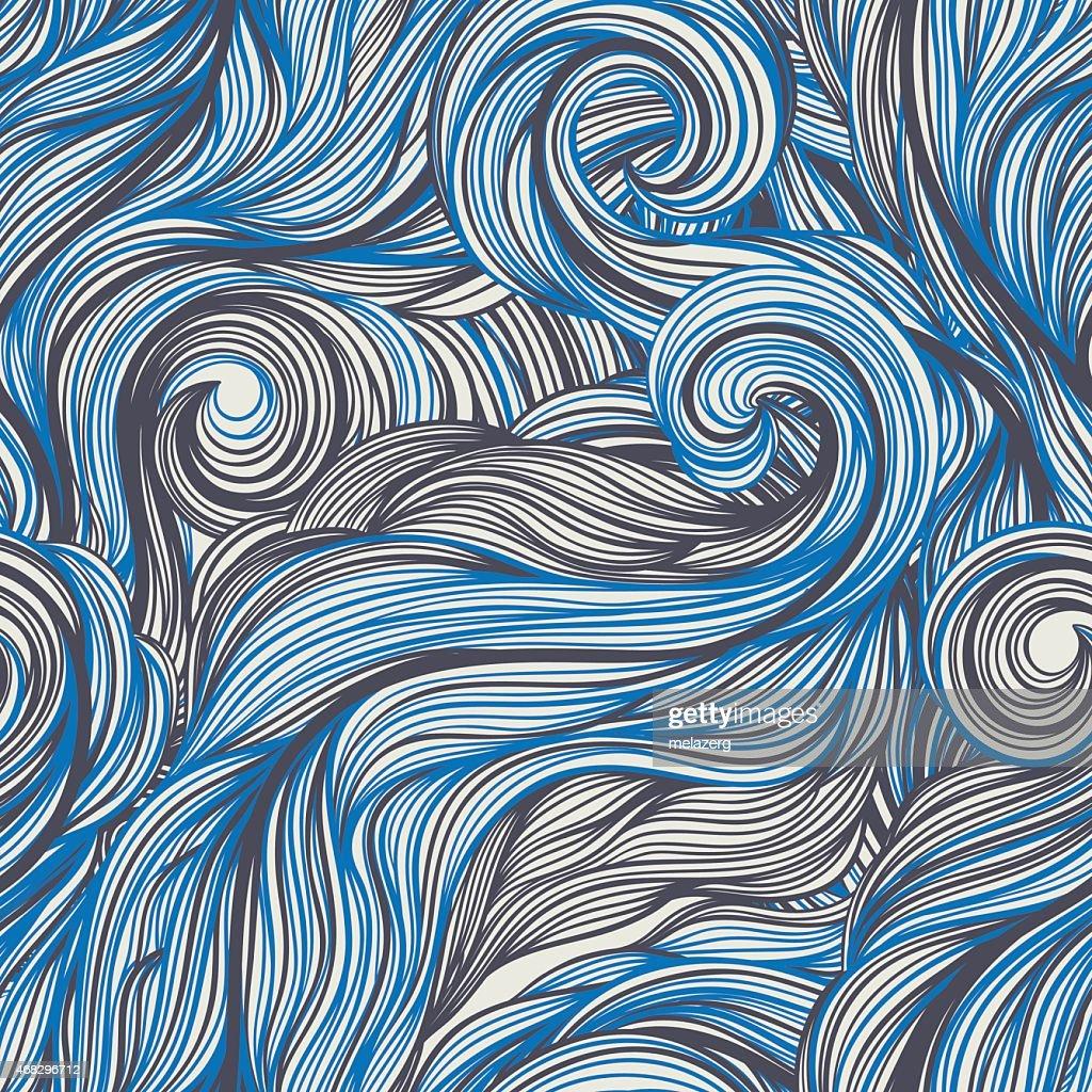 blue and gray line swirls