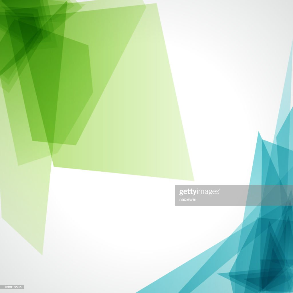 a blue and green abstract background on white vector art