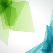 A blue and green abstract background on white