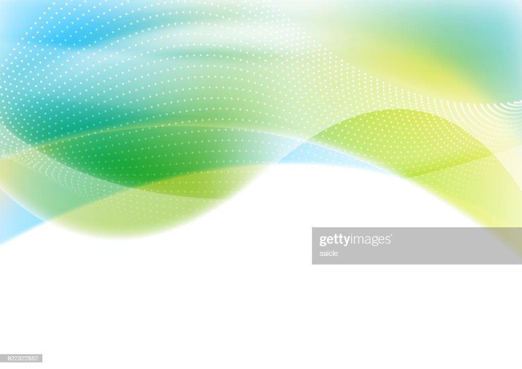 Blue and green abstract shiny waves background