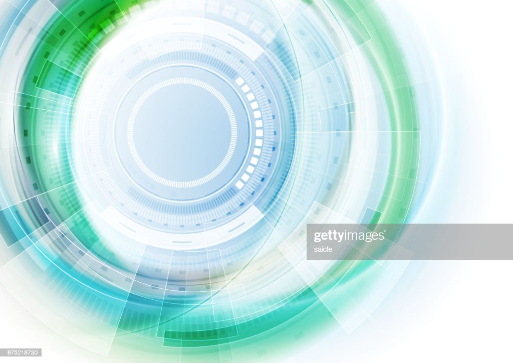 Blue and green futuristic technology abstract background