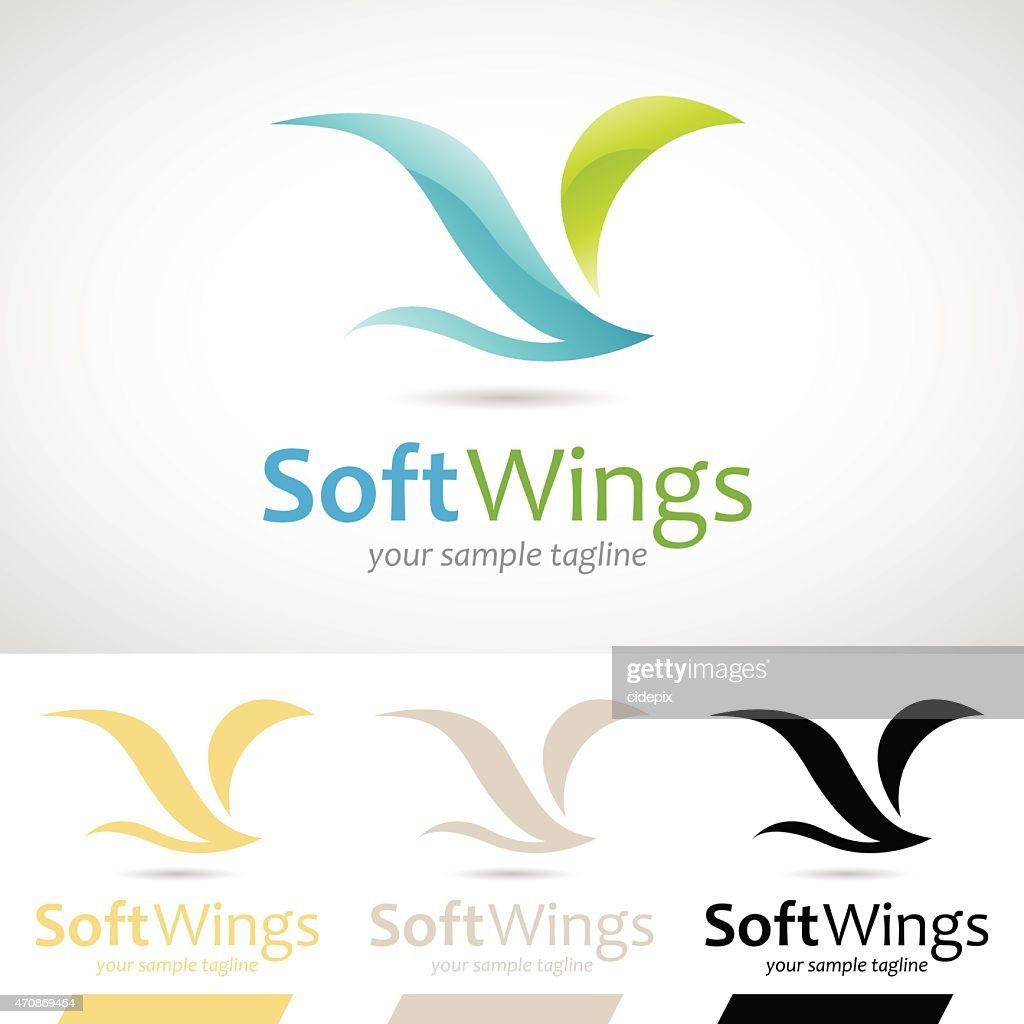 Blue and Green Soft Wings Bird Icon