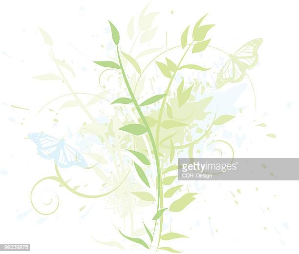 blue and green - embellishment stock illustrations