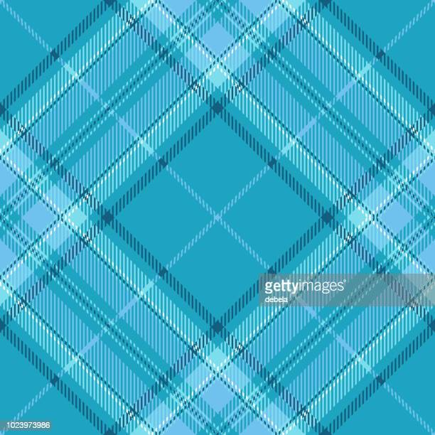 Blue And Light Blue Tartan Plaid Pattern