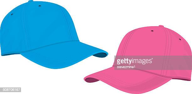 Blue and Pink Caps