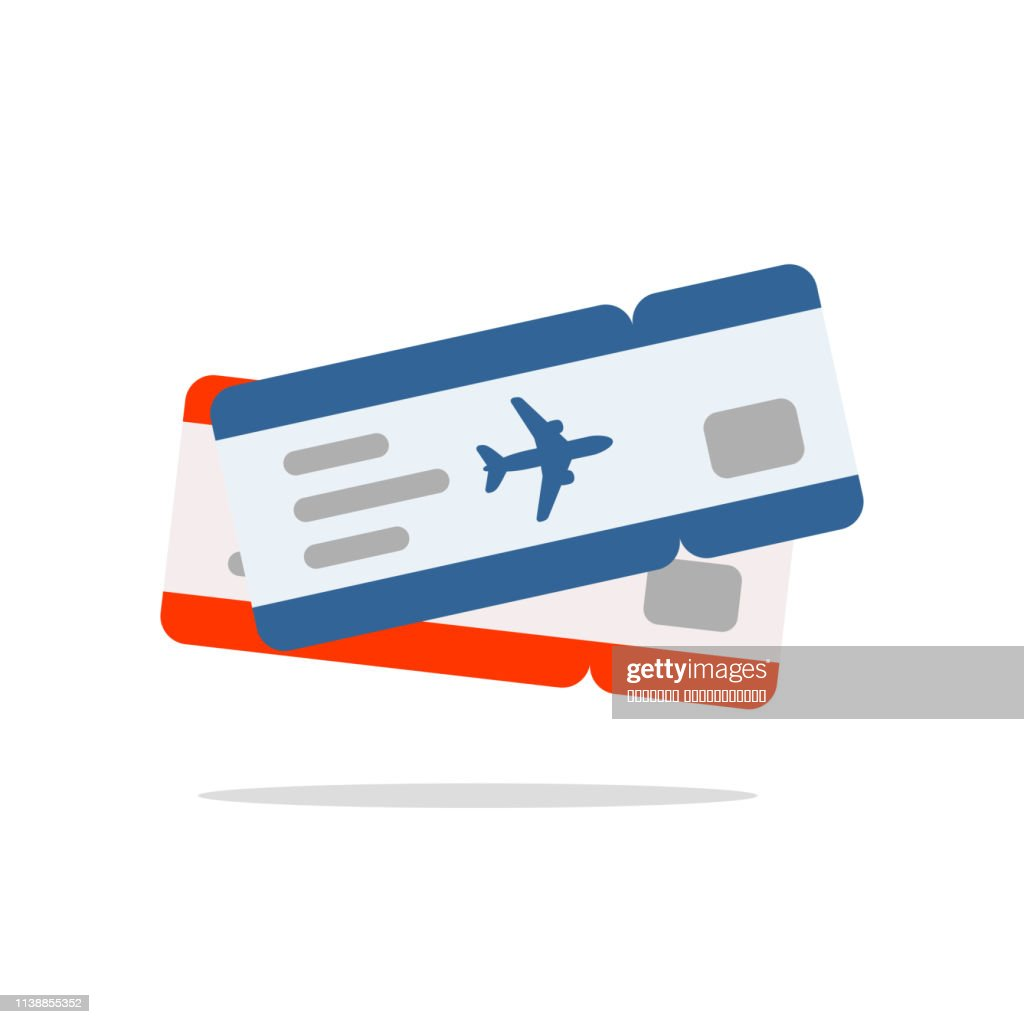Blue and red air tickets