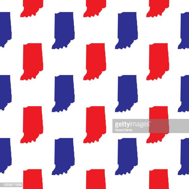 blue and red indiana seamless pattern - indianapolis stock illustrations, clip art, cartoons, & icons