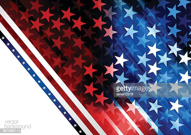 blue and red rising star background - red and blue background stock illustrations