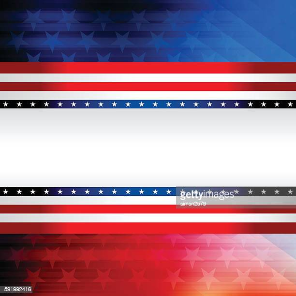 blue and red rising star background - red white blue background stock illustrations