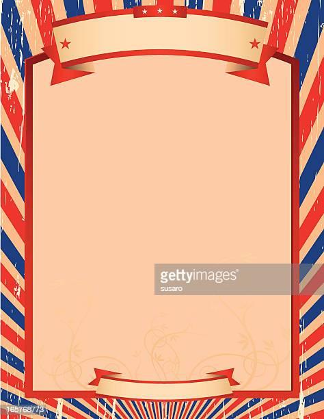 Azul y rojo rayas ilustración bastidor