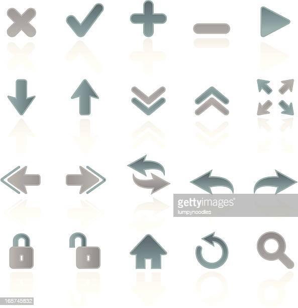 Blue and Silver Web Symbols