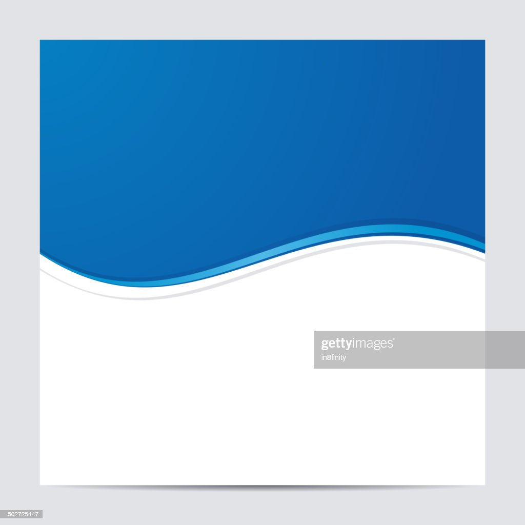 Blue and White Blank Abstract Background. Vector