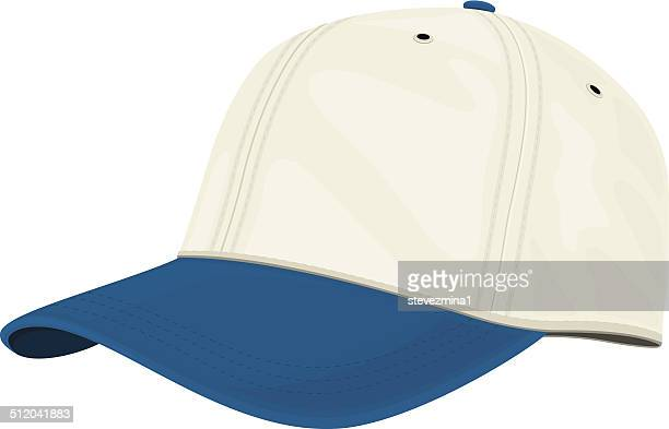 Blue and White Cap