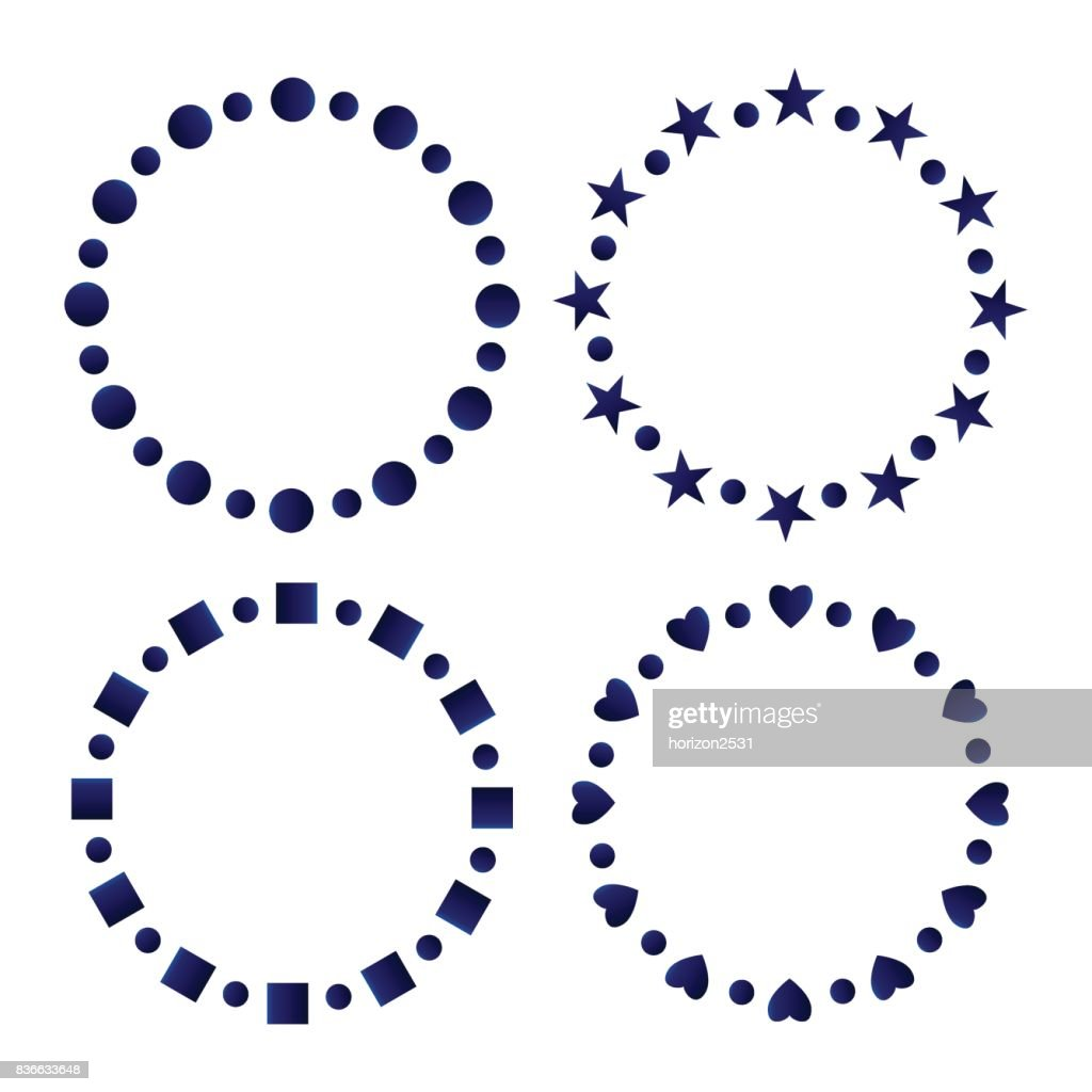 Blue And White Circle Frames Vector Art | Getty Images