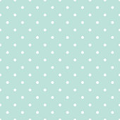 Blue and white polka dot baby seamless vector pattern