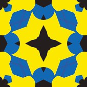 Blue and Yellow Tile pattern