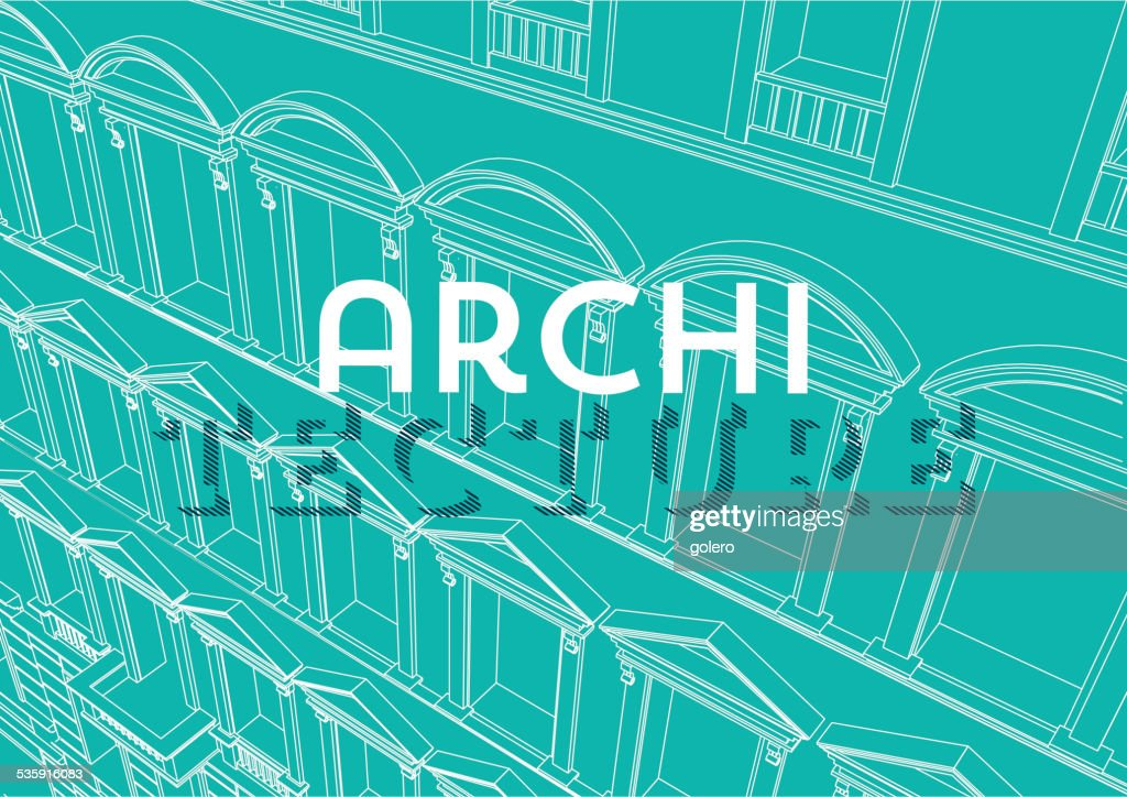 blue architecture background : Vector Art