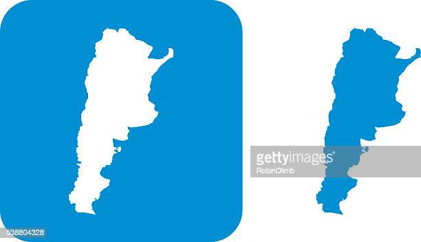 Blue Argentina Icons