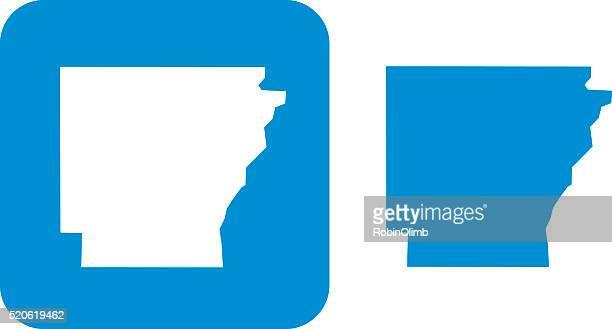 blue arkansas icon - arkansas stock illustrations
