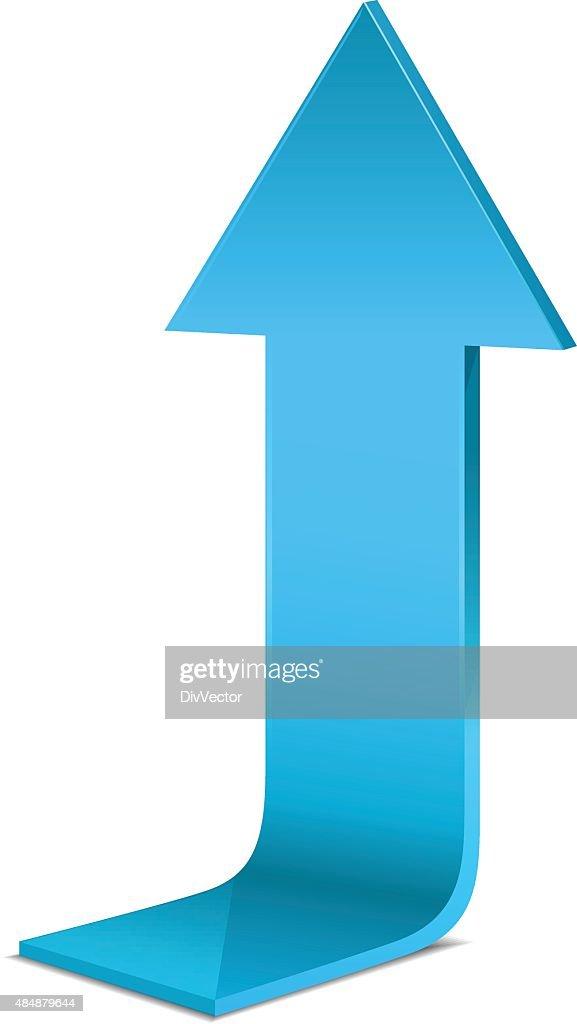 Blue arrow : stock illustration