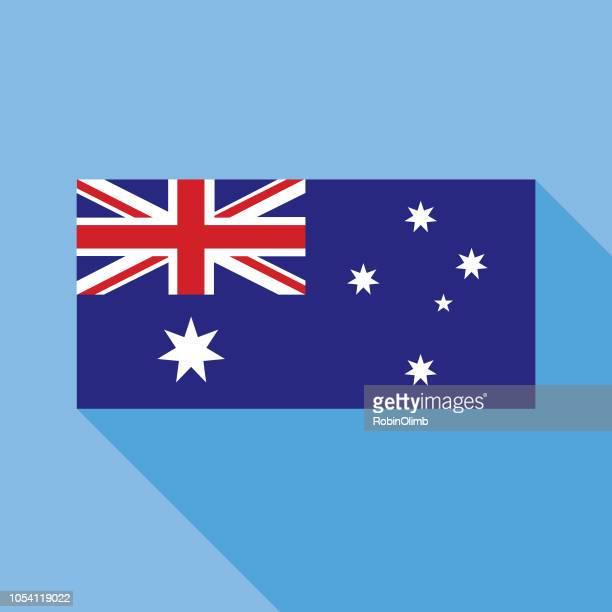 blue australia flag icon - australian flag stock illustrations