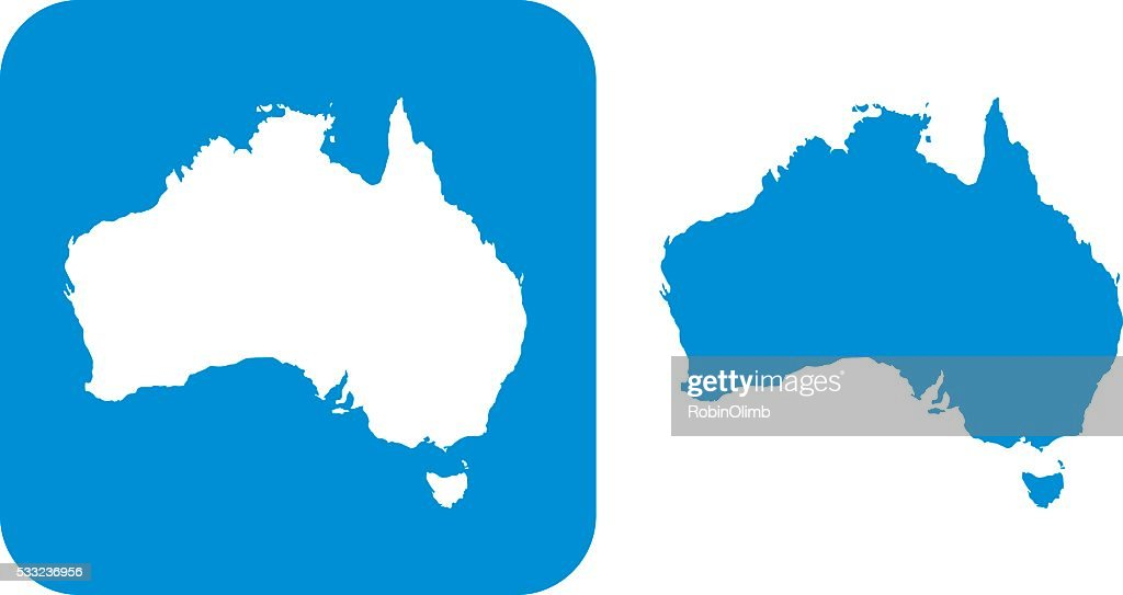 Blue Australia Icon : Stock Illustration