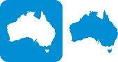 Blue Australia Icon