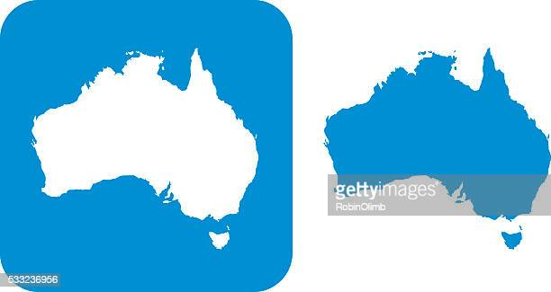 blue australia icon - australia stock illustrations