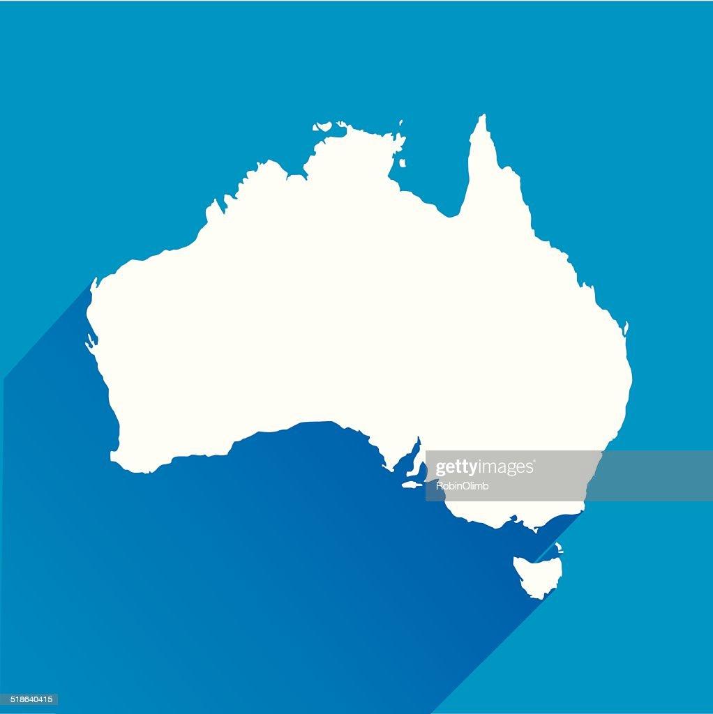 Blue Australia Map Icon