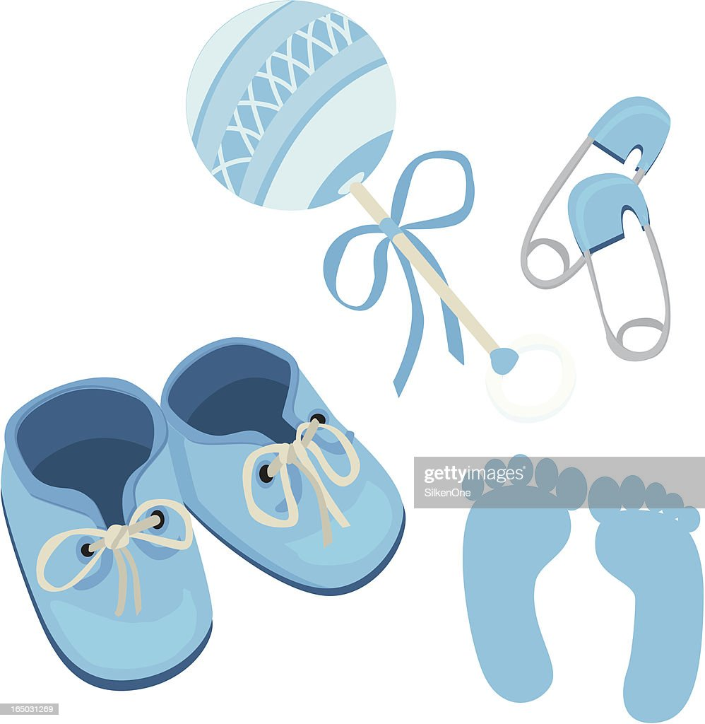 142 Baby Booties High Res Illustrations Getty Images