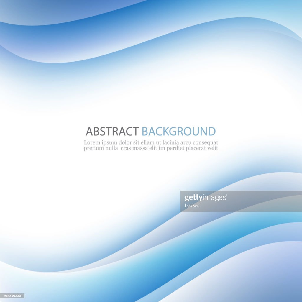 Blue background curve and line element vector