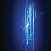 blue background technology abstract vector
