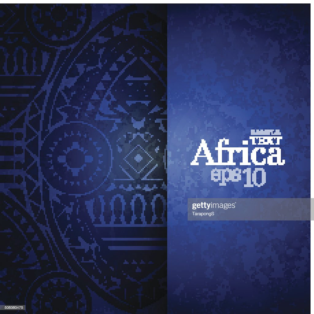 Blue background with African design on left half