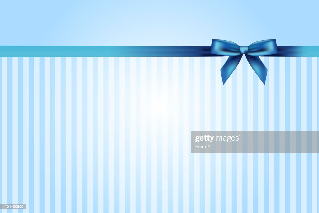 blue background with bow