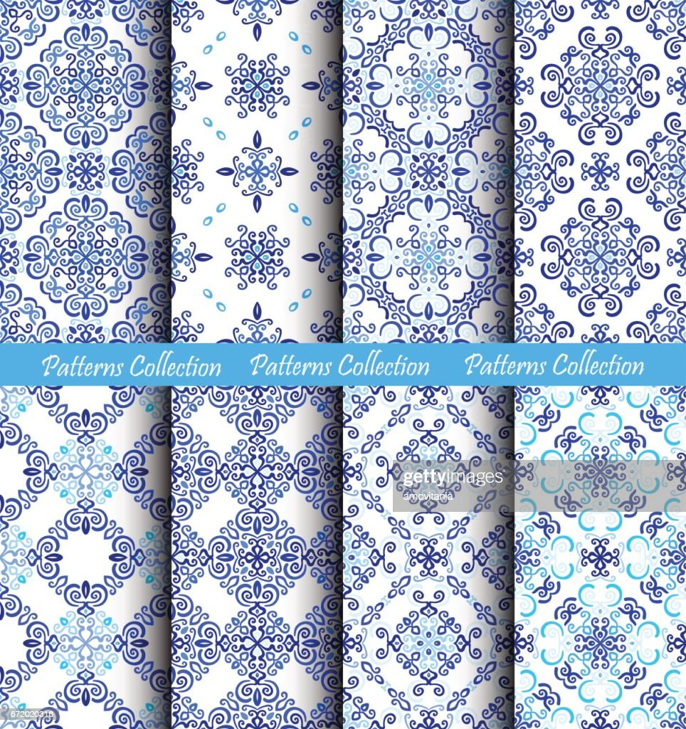 Blue Backgrounds Weave Fabric Patterns