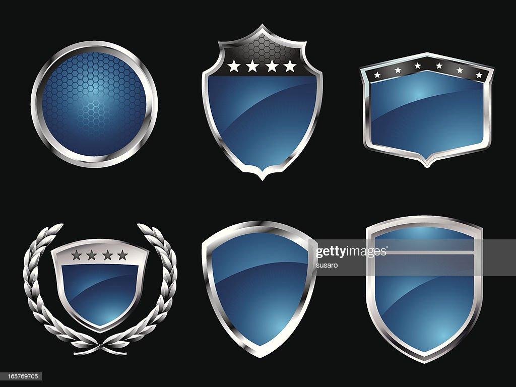 Blue Badges : stock illustration