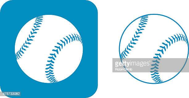 blue baseball icons - baseball stock illustrations, clip art, cartoons, & icons