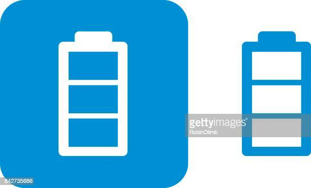 blue battery icons - power supply box stock illustrations, clip art, cartoons, & icons