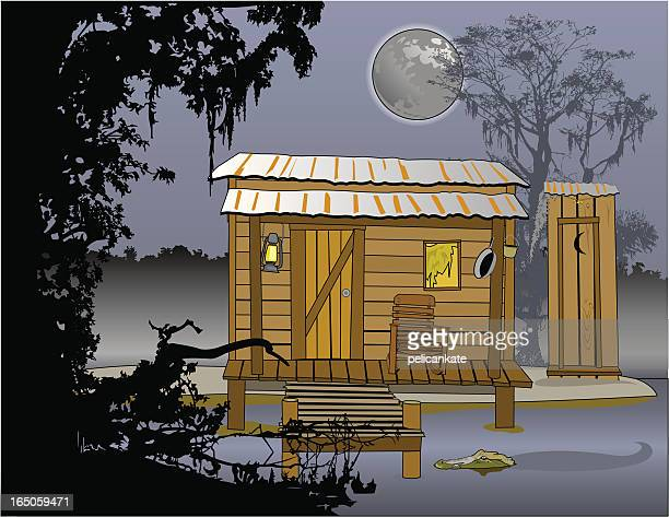 blue bayou - hut stock illustrations