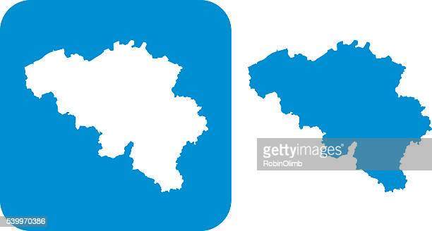blue belgium icon - cartography stock illustrations