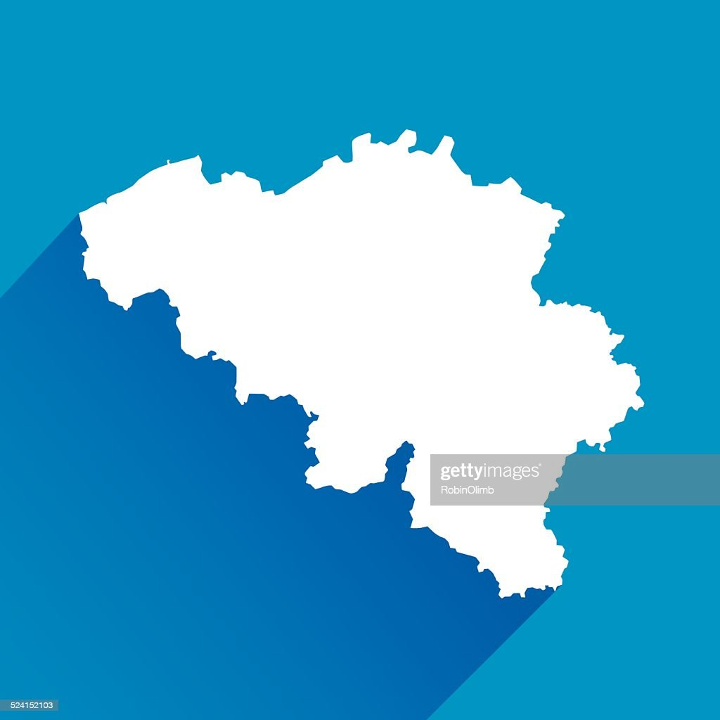 blue belgium map icon vector art