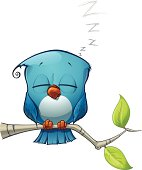 Blue Bird Sleeping