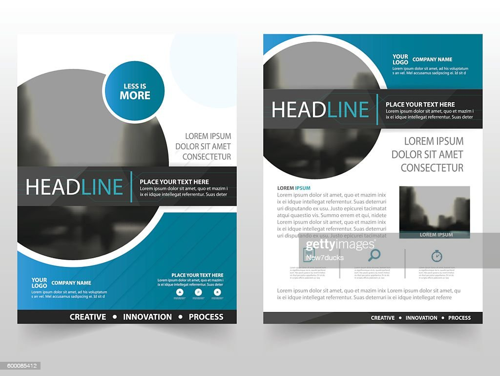 Blue black circle business Brochure Leaflet Flyer annual report template