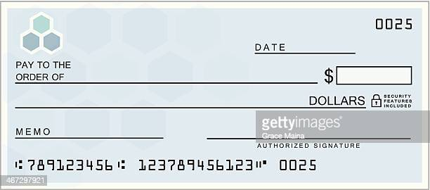 blue blank check - cheque stock illustrations, clip art, cartoons, & icons