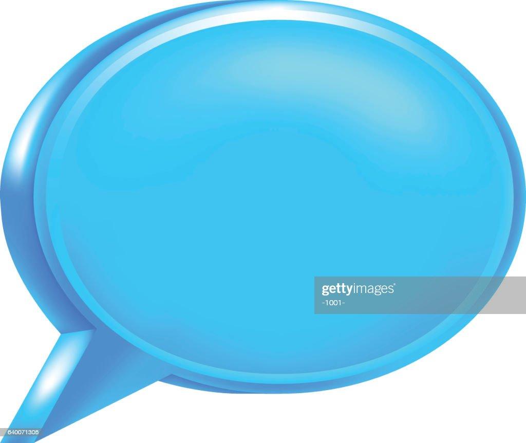 Blue Blank Speech Bubble Icon