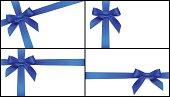 blue bow card